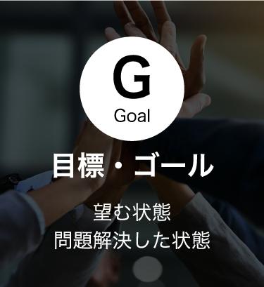 目標・ゴール/ 望む状態問題解決した状態