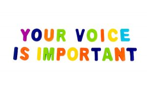 your voice is important