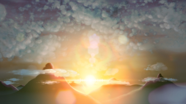 vision 太陽と山